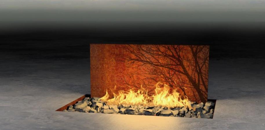 El fuego es la presencia fundamental en la obra de Elena Colombo. El fuego que ilumina y transforma. Que convoca y crea. El fuego que nos hace uno y nos fragmenta.