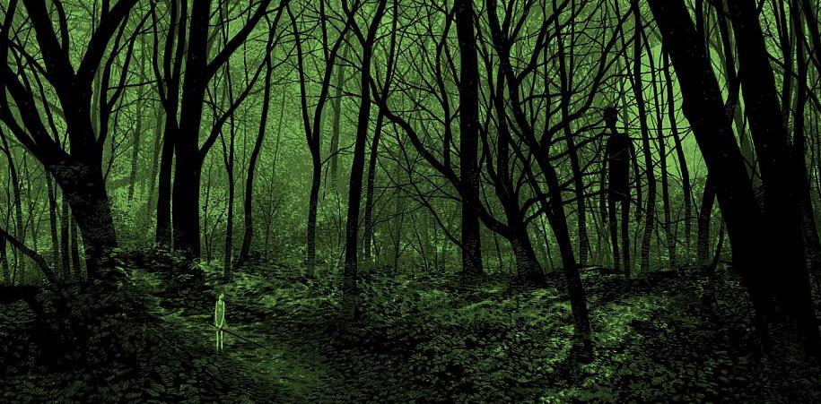 Daniel Danger es el artífice de esta maravillosa aproximación a lo oscuro. Su técnica preciosista nos entrega abismales detalles de la noche. ¡Disfruta su obra!