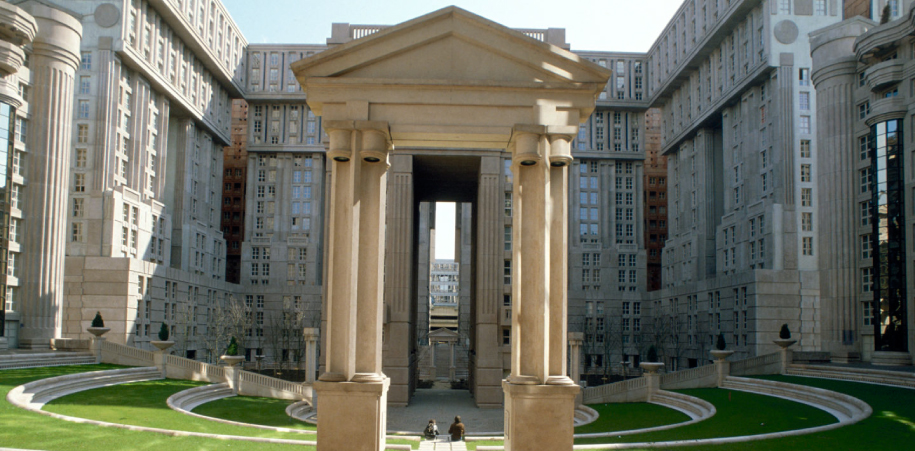 palacio de abraxas, architecture, neoclassic, posmodernism, brutalism, photography, ricardo bofill, paris